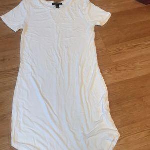 Forever 21 white tee shirt dress medium